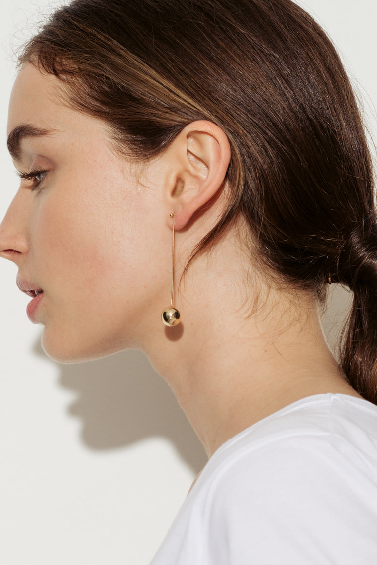 Ren 18 Karat Gold Drop Bauble Earrings