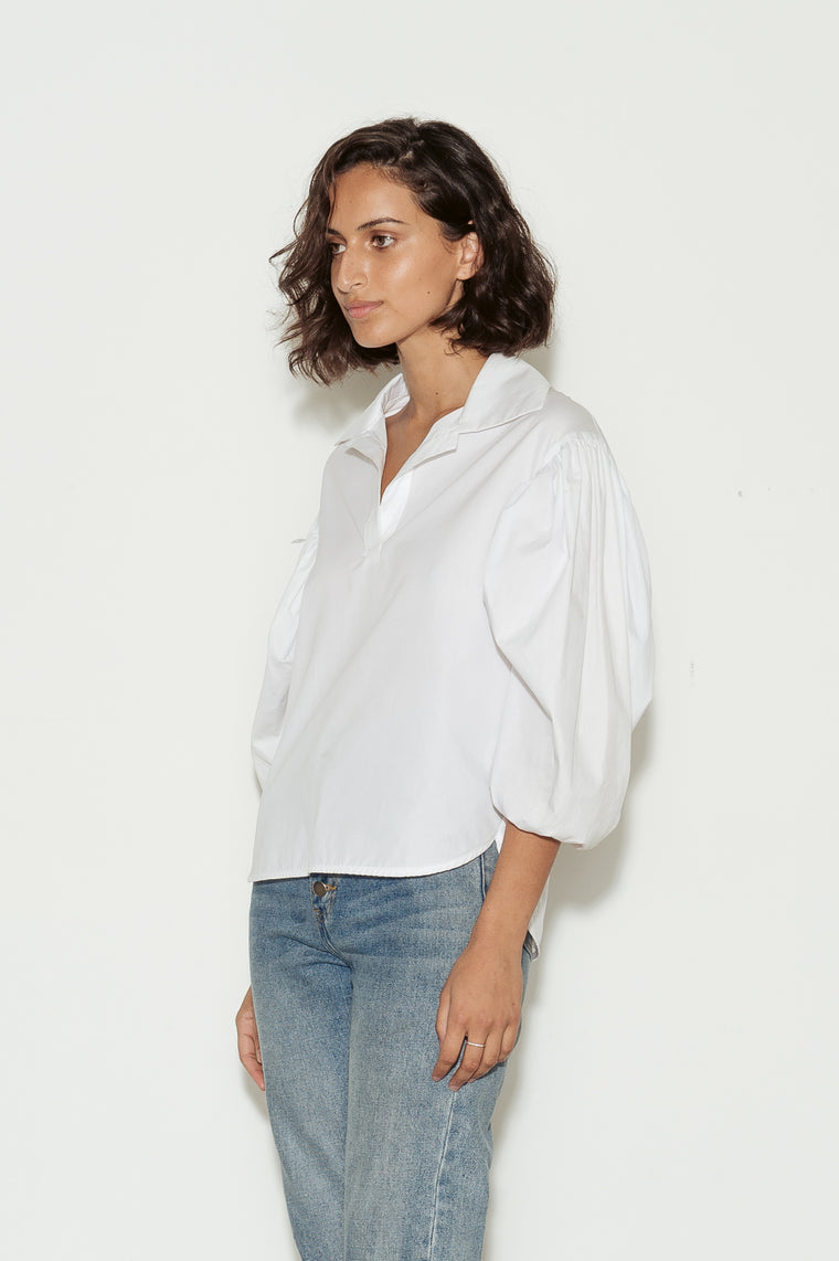 Lewie Puff Sleeve Cotton Shirt
