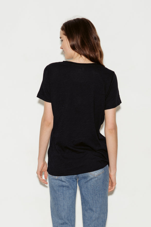 Relaxed Cotton V-Neck T-Shirt