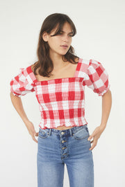 Toni Cropped Cotton Top