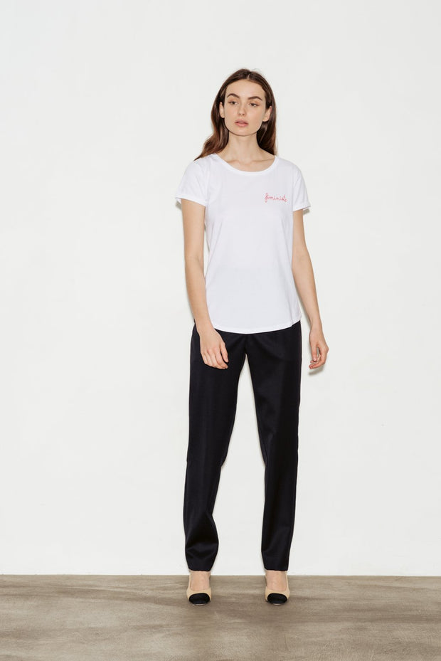Féministe Crew Neck Cotton T-Shirt