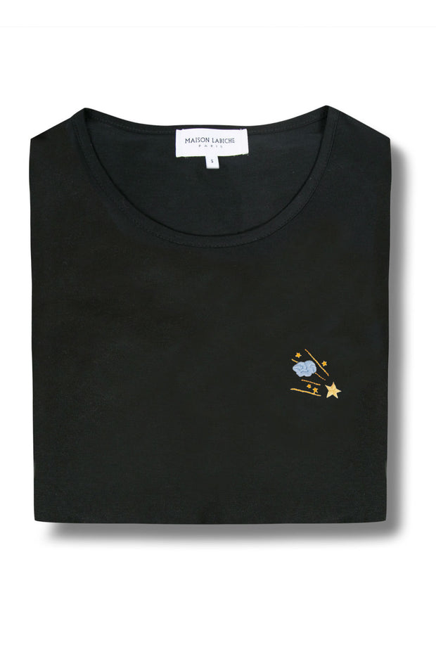 Stars and Cloud Crew Neck Cotton T-Shirt