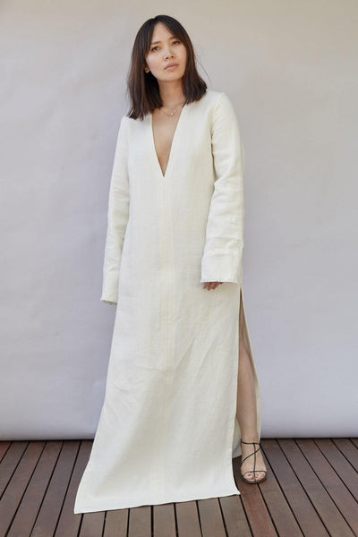 Long Linen Tunic - BASICS DEPARTMENT