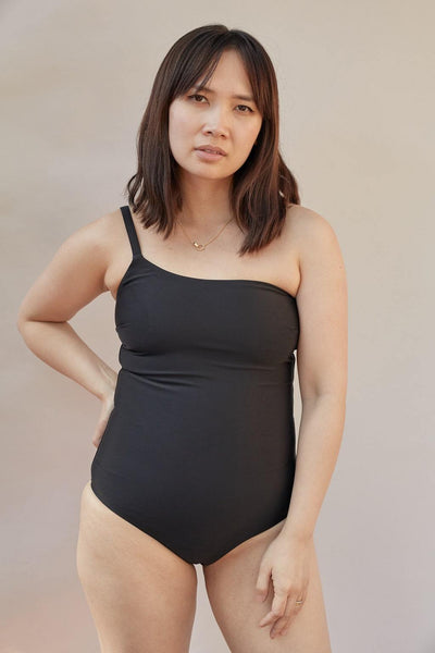 One Shoulder Maillot - BASICS DEPARTMENT