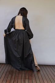 Open Back Plunge Dress
