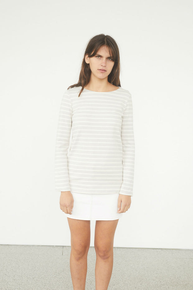 Intarsia Breton Striped Top