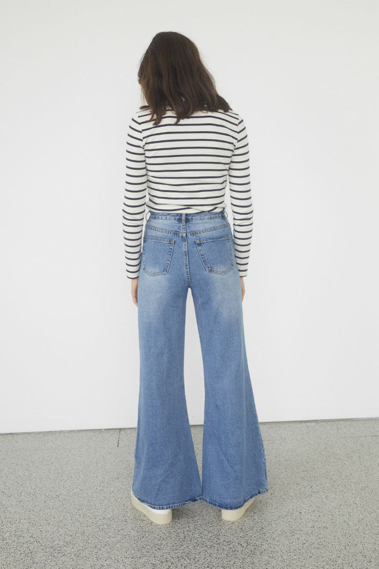 High Rise Wide Leg Jeans