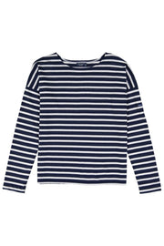Minquiers Drop Breton Striped Top