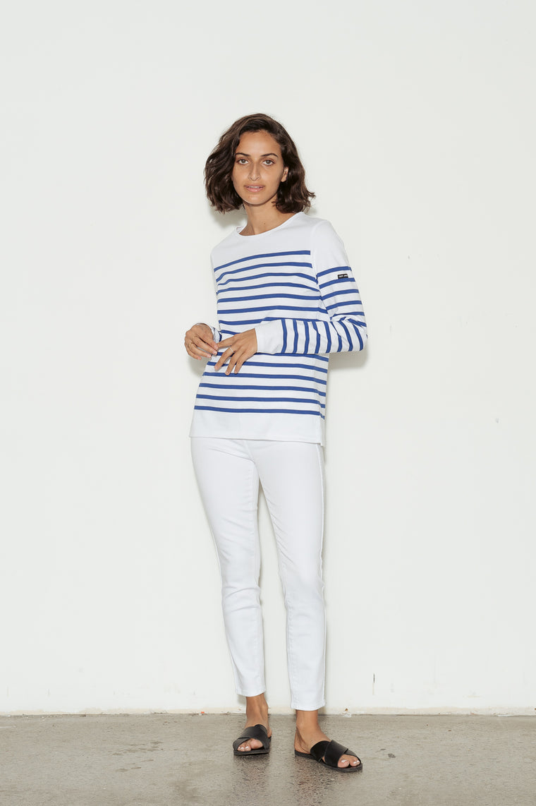 Naval Femme Breton Striped Cotton Jersey T-Shirt