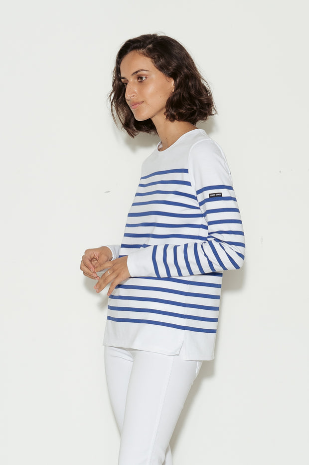 Naval Femme Breton Striped Cotton Jersey Top