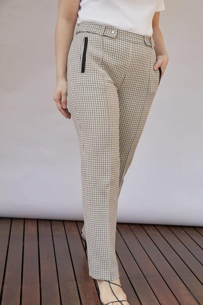 Checked Slim Pants - BASICS DEPARTMENT