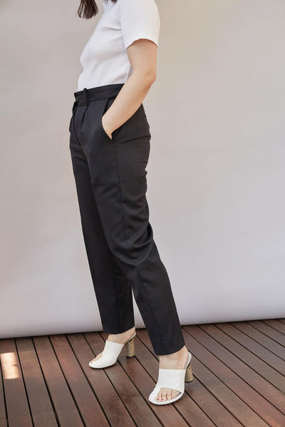 Fitted Wool Trousers