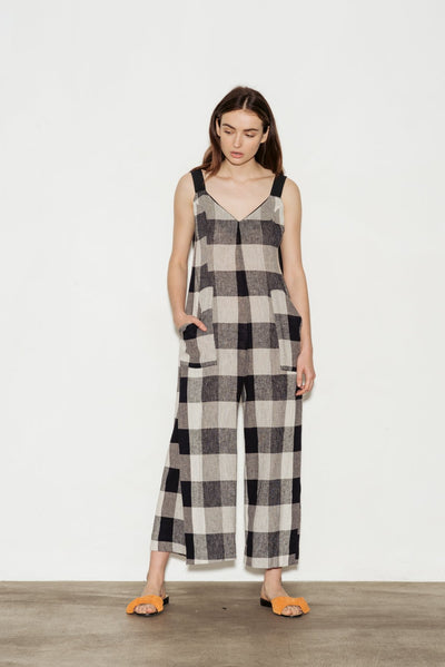Adjustable Linen Blend Jumpsuit - BASICS DEPARTMENT