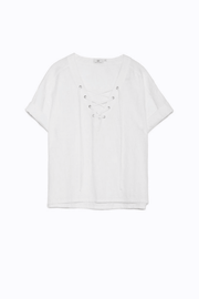 Kelly Tencel and Linen Blend Lace-Up Shirt