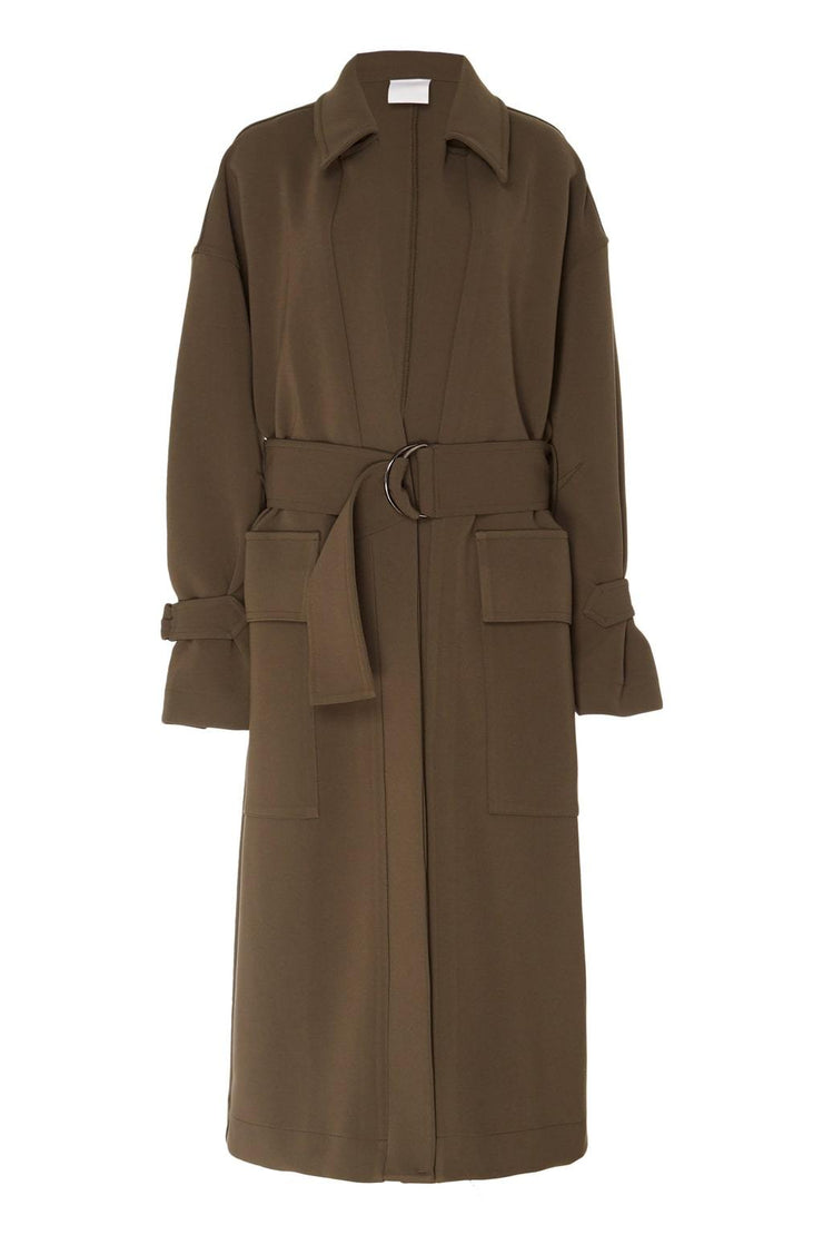 D Ring Trench Coat - BASICS DEPARTMENT