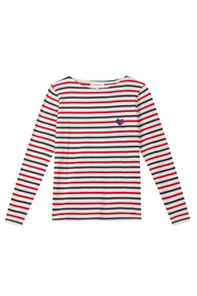 Broken Heart Breton Striped Long Sleeve Cotton T-Shirt