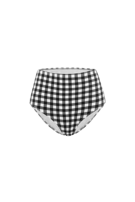Gingham High Waisted Bikini Briefs