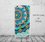 Colourful Floral Soft TPU iPhone Protection Cases
