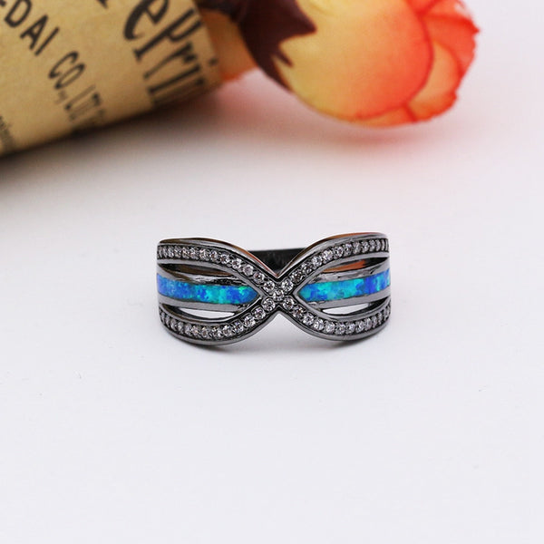 Blue Knot Opal Cocktail Ring
