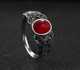 Simulated Red Ruby Ring