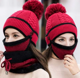 Winter Beanie Scarf and Mask Set