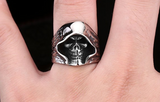 Stainless Steel Death Hell Skull Rings