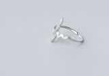 925 Sterling Silver Heartbeat Rhythm Ring