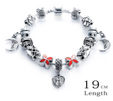 Silver Antique Charm Beads Bracelets