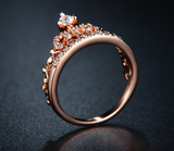Rose Gold Exquisite Crown Ring
