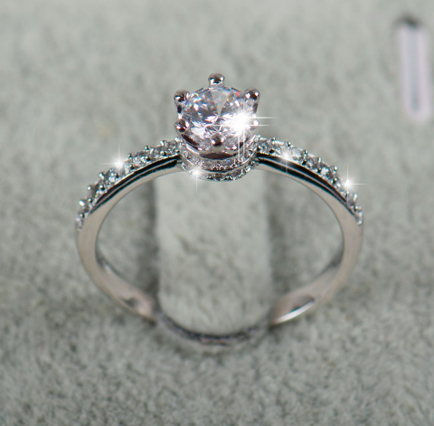 Sterling 925 Silver Crown Ring