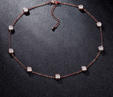 Cubic Zirconia Choker Necklace