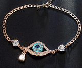 Evil Eye Multi Color Austrian Rhinestones Bracelet