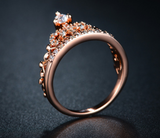 Rose Gold Plated Crown Ring