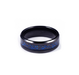 Black Hollow Blue Dragon Ring