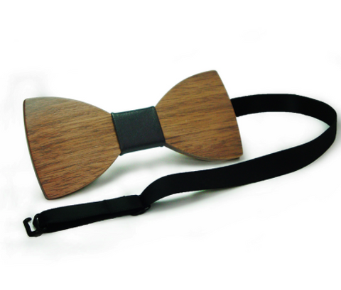 Simple Pajaritas Hardwood Bow Tie - Free Shipping