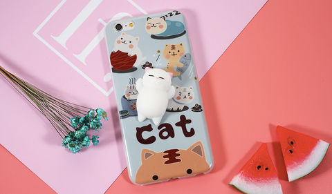 Squishy Stress Release Cat iPhone Case
