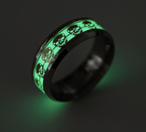Luminous Skull Glow Ring