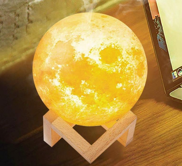 Moon Lamp with Ultrasonic Humidifier