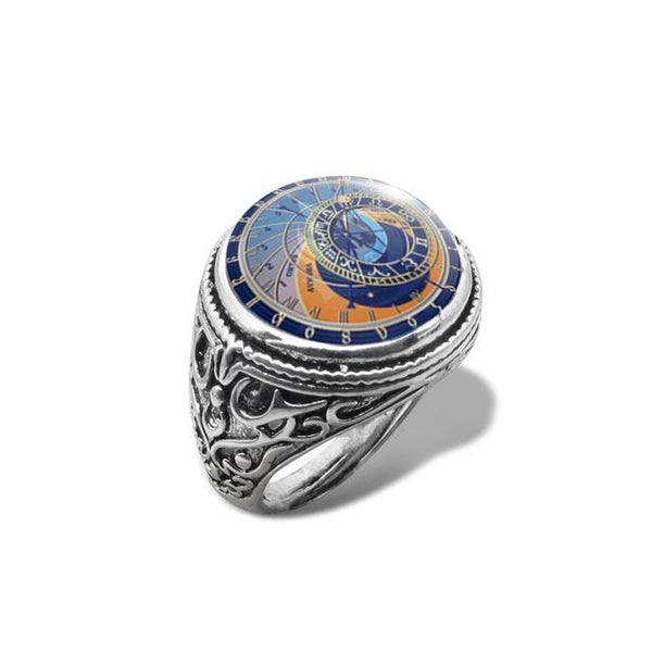 Astronomical Glass Dome Ring