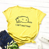 I Can't Adult Today Cotton Tees