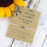 Sunflower Quote Bracelet