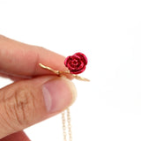 Valentine's Day Rose Necklace