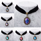 Galaxy Nebula Choker Elastic Necklace