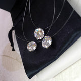 Crystal Zircon Charm Pendant Necklace