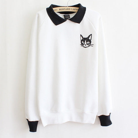 Cat Pullover Sweatshirt