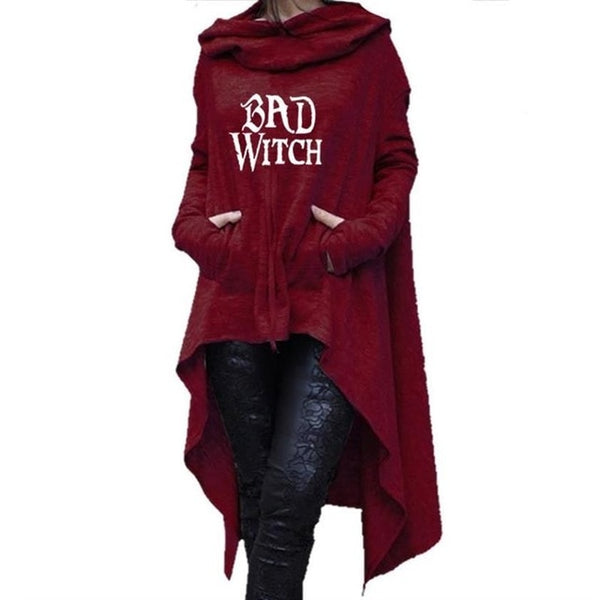 Bad Witch Asymmetric hoodie