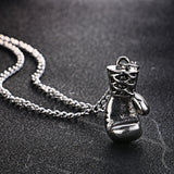 Mini Boxing Glove Pendant Necklace