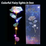 Colorful LED Fairy Rose Artificial Galaxy Rose