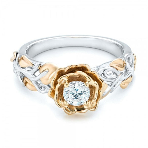 Elegant Gold Flower Ring