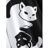 Black and White Cat Sweatshirt